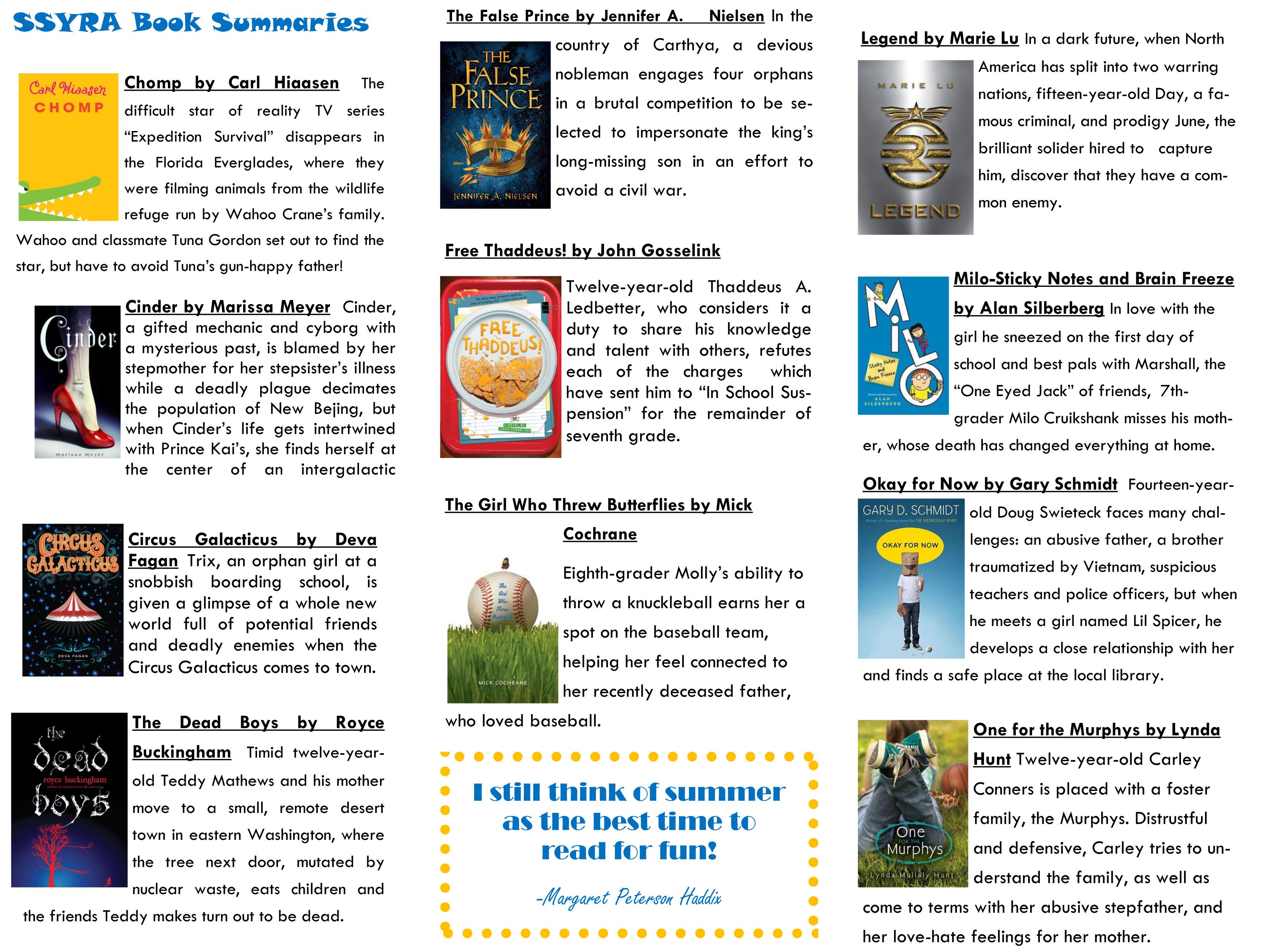 SSYR brochure 2013-2