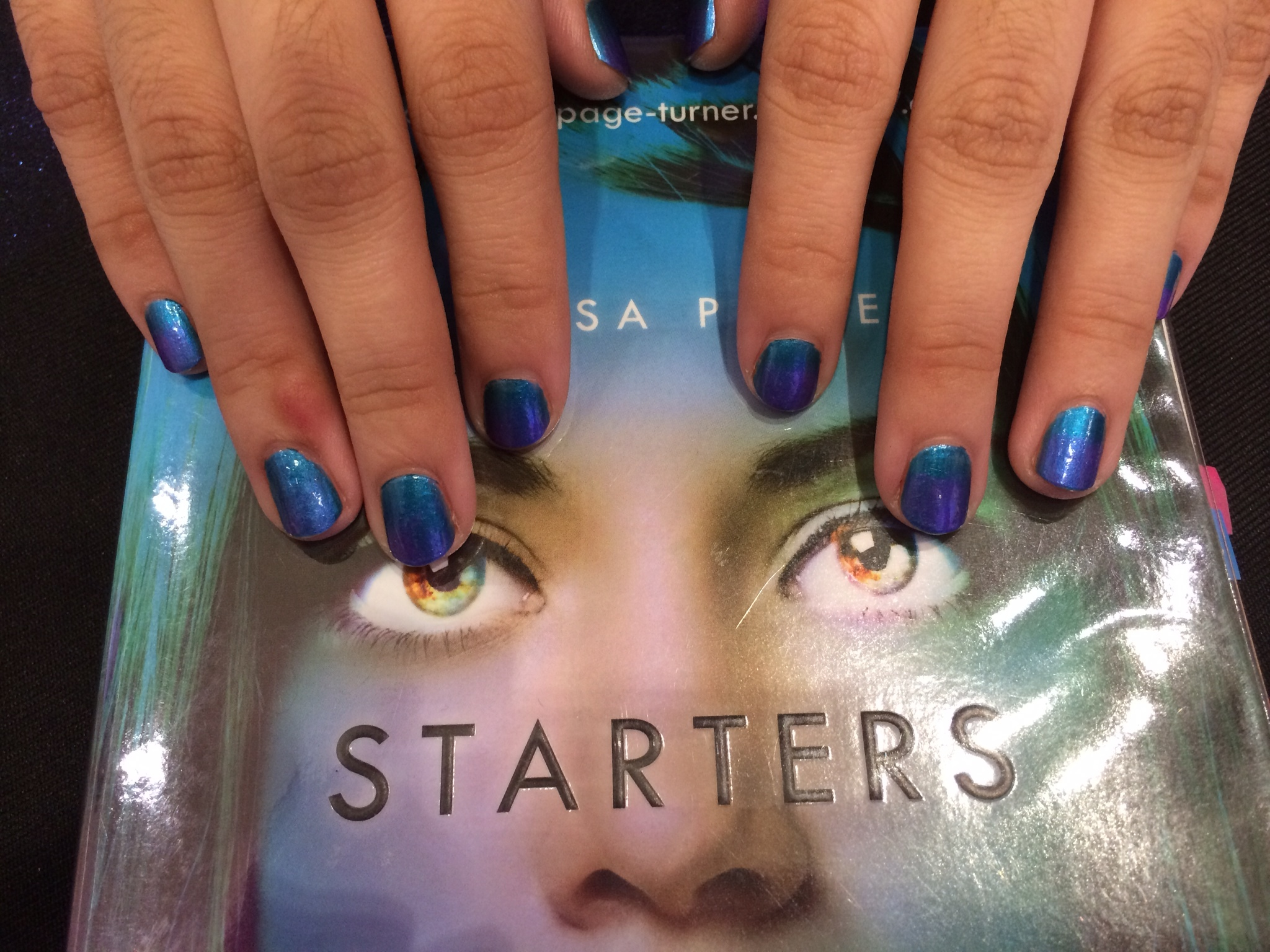 Starters blue nails